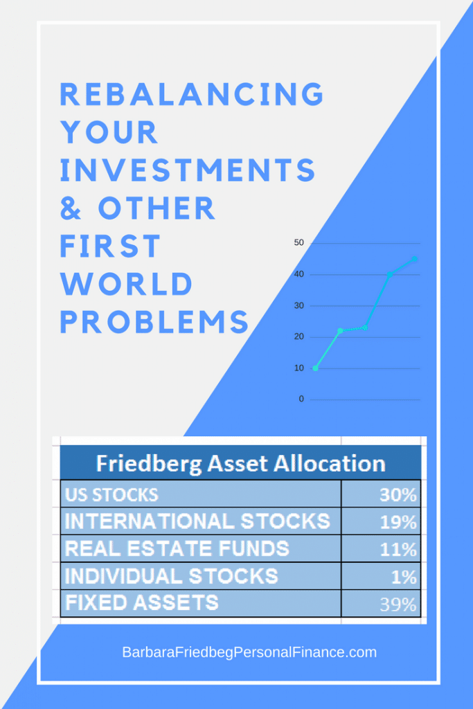 Rebalancing Your Investments and Other First World Problems