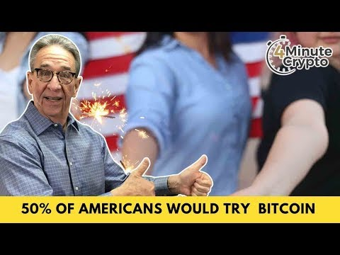 50% of Americans Are Willing to Try Out Bitcoin