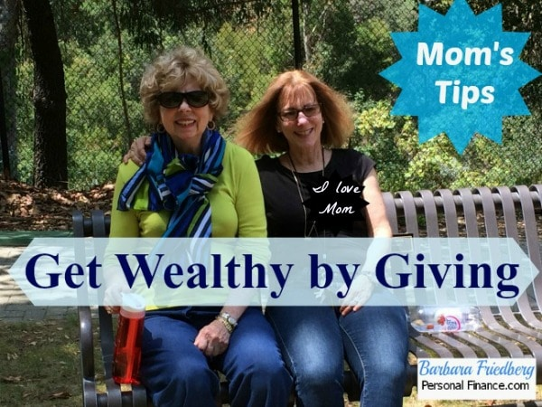 get wealthy by giving
