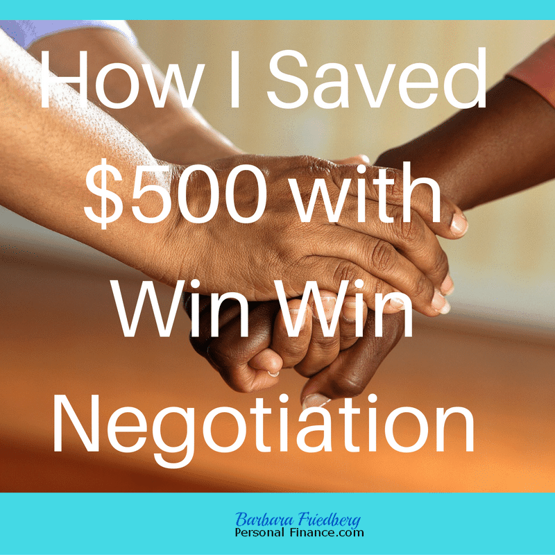 Win Win Negotiation – How I made $500 in Ten Minutes
