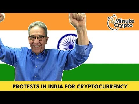 Protests in India for Cryptocurrency