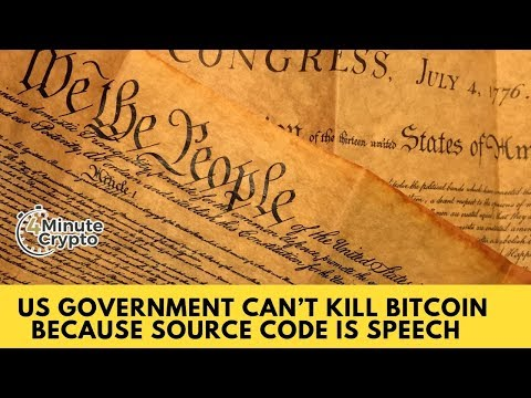 US Can't Kill Bitcoin Because Source Code is Speech