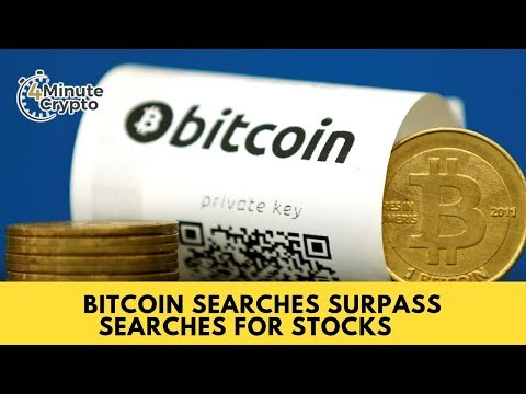Bitcoin Searches Surpass Searches For Stocks