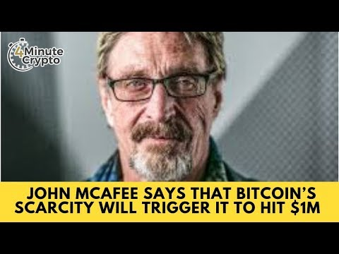 John McAfee Says Bitcoin's Scarcity Will Trigger It to Hit $1M