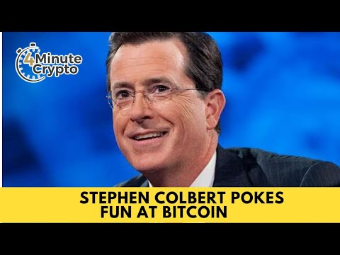 Stephen Colbert Pokes Fun at Bitcoin