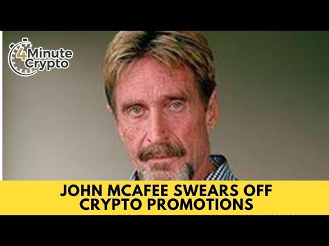 John McAfee Swears Off Crypto Promotions
