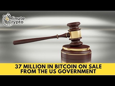 37 Million in Bitcoin On Sale From The US Government