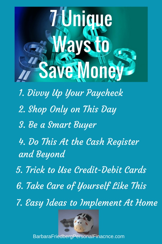 7 unique ways to save money now. Start today to build financial freedom tomorrow.