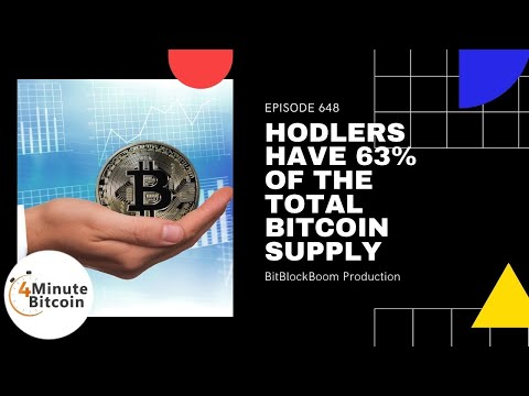 Hodlers Have 63% Of The Total Bitcoin Supply
