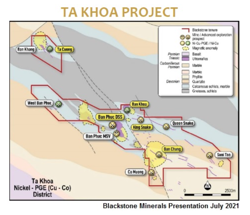 BLSTF: Blackstone Minerals Advancing Upstream Nickel Sulfide Project in northern Vietnam, along with Downstream NCM811 Refinery Project